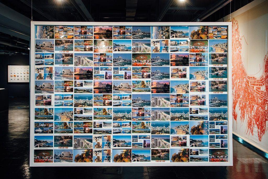 José Pemjean. Topografía del desastre. Parte de la muestra Post-Panamax. Sala de Arte Las Condes, Santiago de Chile, 2016. Foto cortesía del artista.
