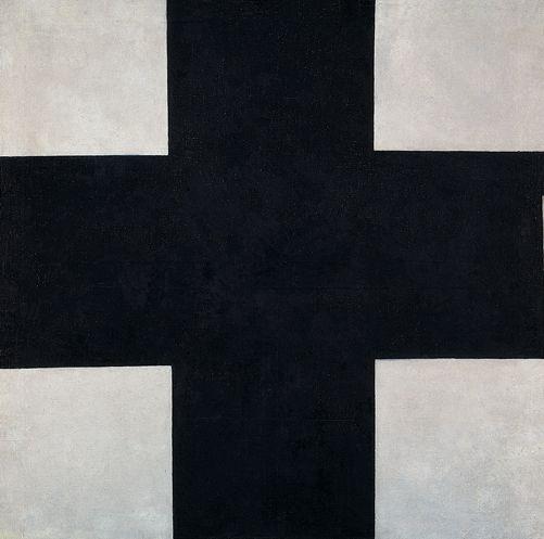 Kazimir Malevich, Black Cross, c.1923 (Cruz negra). Óleo sobre lienzo,106 x 106,5 cm. Colección The State Russian Museum