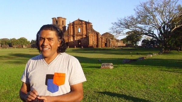 Bernardo Oyarzún en el Museo de Sao Miguel das Missoes. Cortesía: Alexia Tala