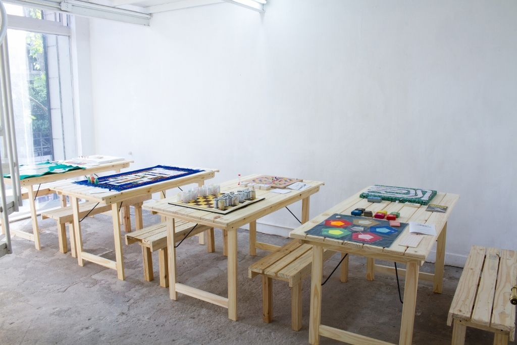 """Vista de la exposición """"Status Quo"""", de Gala Berger, en Mite Galería, Buenos Aires. Cortesía de la artista"""