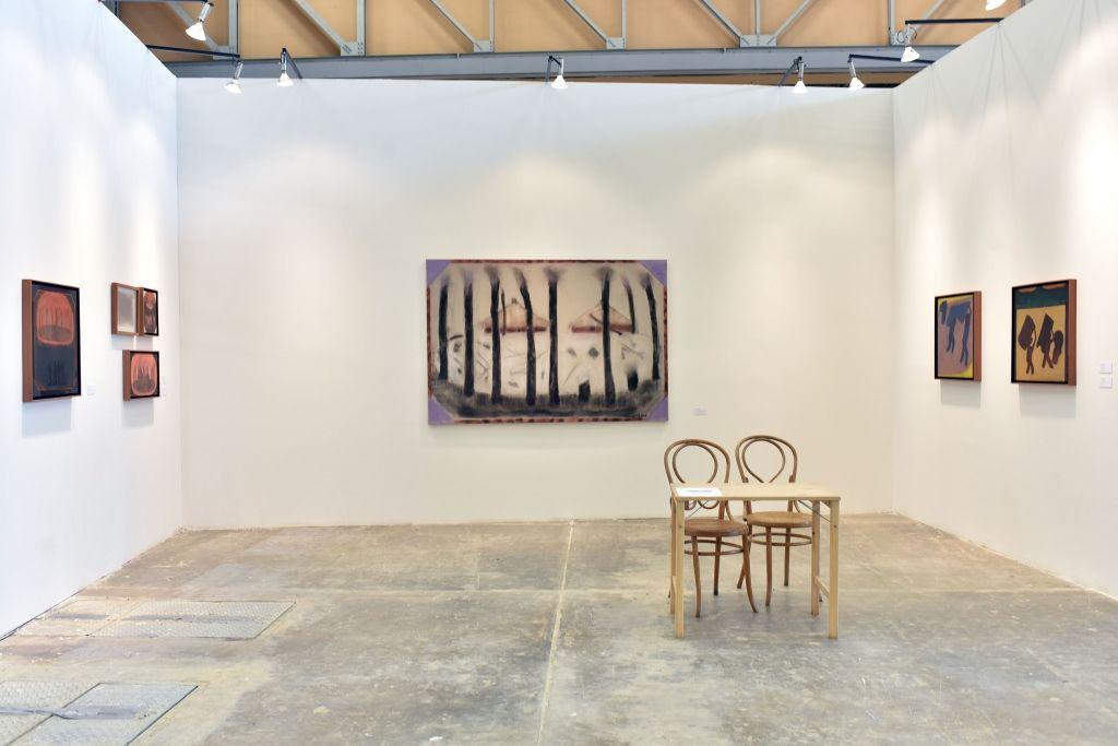Beatriz González en Stand de Galería Casas Riegner, sección Proyectos, curada por Jens Hoffmann, en ARTBO 2016. Foto: © Cámara de Comercio de Bogotá / 48 por segundo -Todos los Derechos reservados