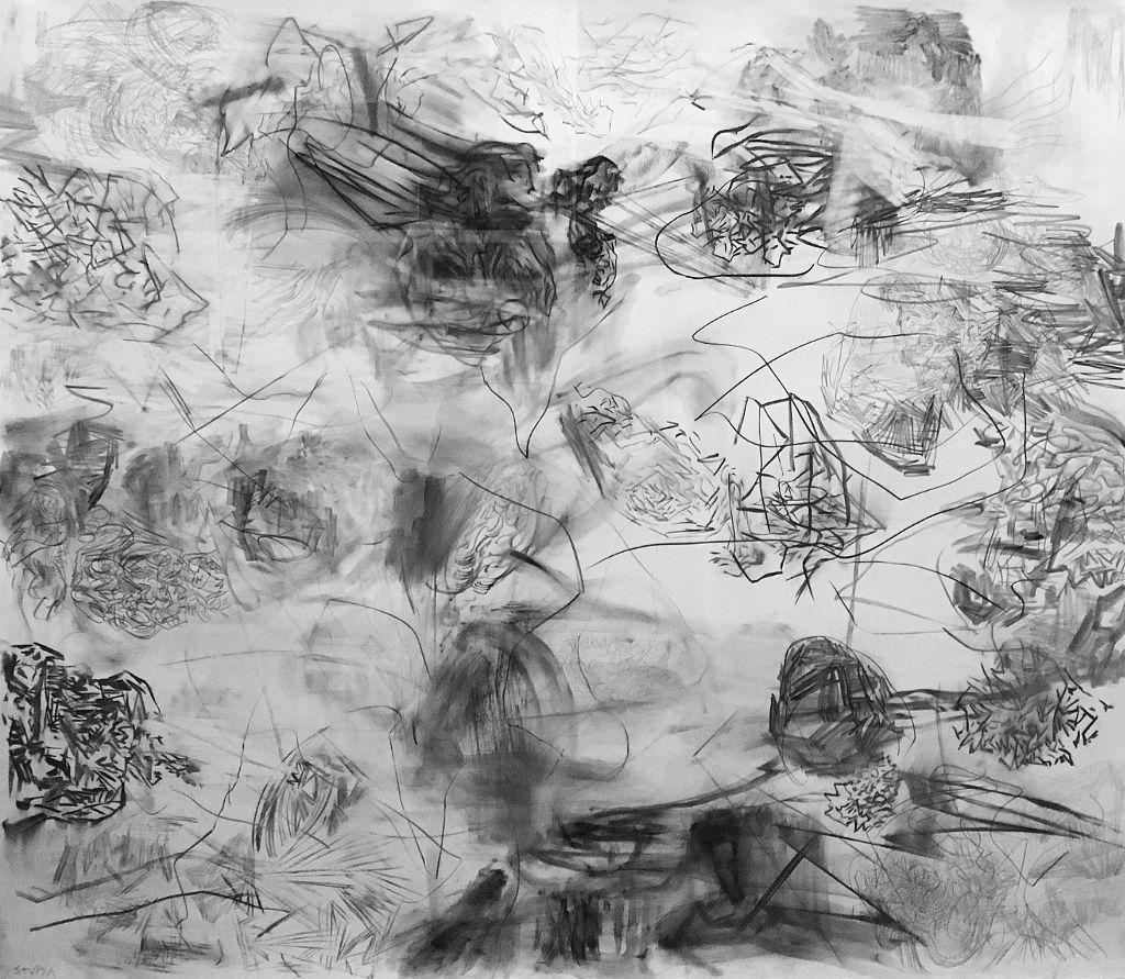 Eduardo Stupía, Sin título, técnica mixta sobre papel, 120 x 140 cm, 2016. En Jorge Mara La Ruche