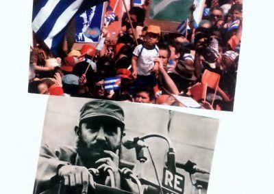 Clemente Padín, Enciclopedia Visual de la Historia de Latinoamérica, 1983. Cortesía: Walden. Sección Referentes. ARTBO 2016. Foto: Alejandra Villasmil