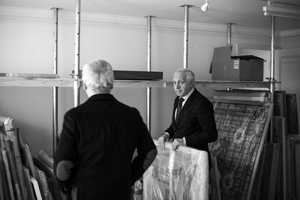Los coleccionistas chilenos Ramón Sauma y Gabriel Carvajal. Foto: Cristián Aninat