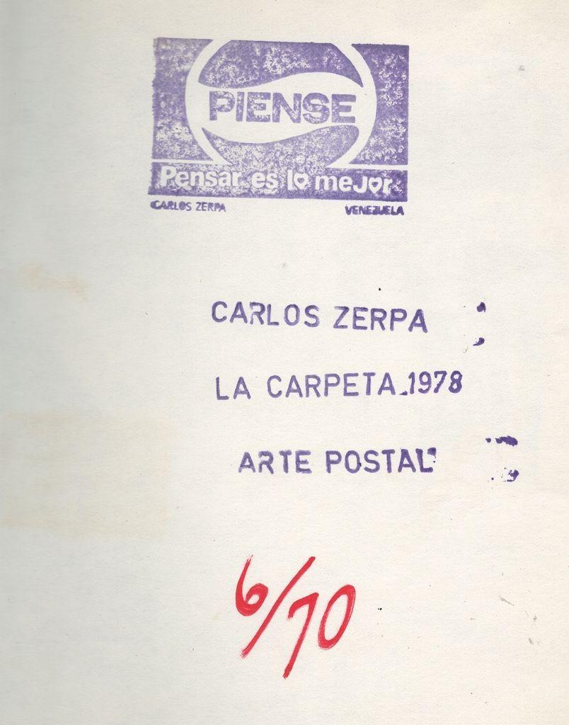 Carlos Zerpa. Archivo del artista. Scan digital cortesía de ABRA/ArtEncontrado.