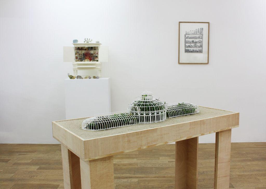 Rodrigo Arteaga, Observatorio de plantas, 2016, plantas vivas, maqueta, dimensiones variables. Cortesía de Sobering Galerie