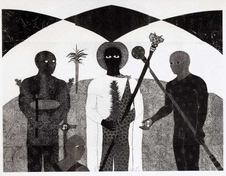 Belkis Ayón, colografía. Colección Belkis Ayón Estate. Cortesía: Fowler Museum, Los Angeles, 2016