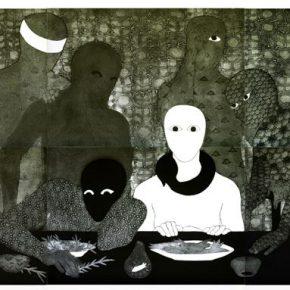 Belkis Ayón, La cena, 1991. Colografía. Colección Belkis Ayón Estate