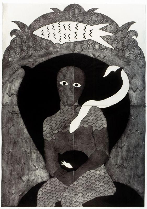 Belkis Ayón, Sikán, 1991, colografía. Colección Belkis Ayón Estate. Cortesía: Fowler Museum, Los Angeles, 2016.