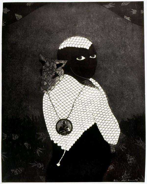 Belkis Ayón, Sin título (Sikán con chivo), 1993, colografía. Colección Belkis Ayón Estate. Cortesía: Fowler Museum, Los Angeles, 2016.