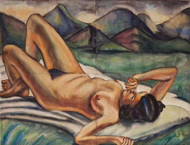 Debora Arango, Montañas, 1940, Acuarela, 96 x 126 cm, Colección del Museo de Arte Moderno de Medellín