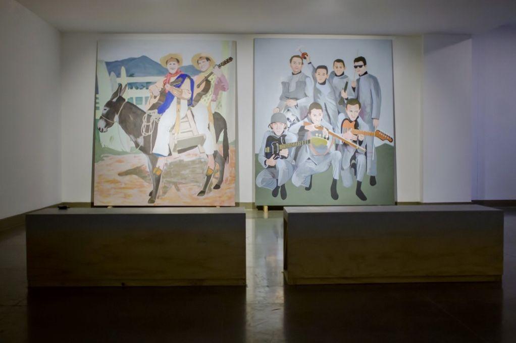 Wilson Díaz, Alienando pueblo, 2016. Instalación. Foto: Tatiana Toro. Cortesía: 44 Salón Nacional de Artistas