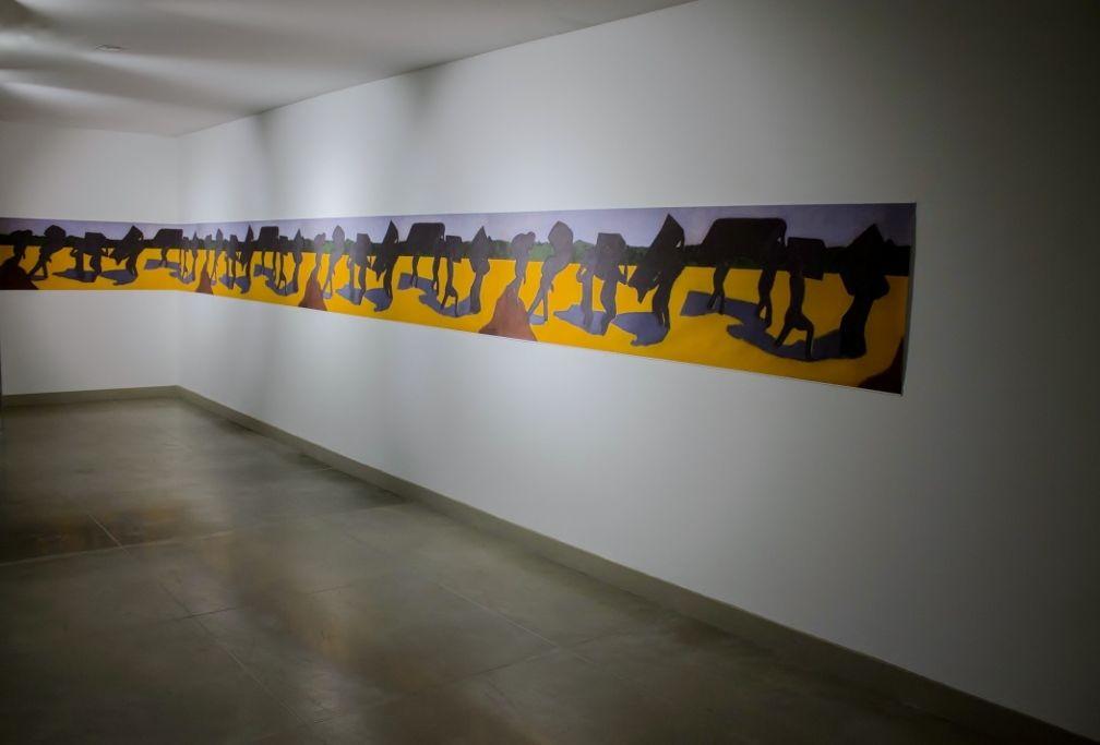 Beatriz González, Zulia Zulia Zulia, 2015.  Impresión digital sobre lienzo. Foto: Tatiana Toro. Cortesía: 44 Salón Nacional de Artistas