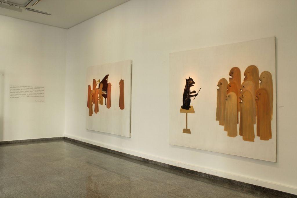 Vista de la exposición Monólogos, de Julia San Martín, en Sala Gasco, Santiago de Chile, 2016. Foto: Leonardo Portus
