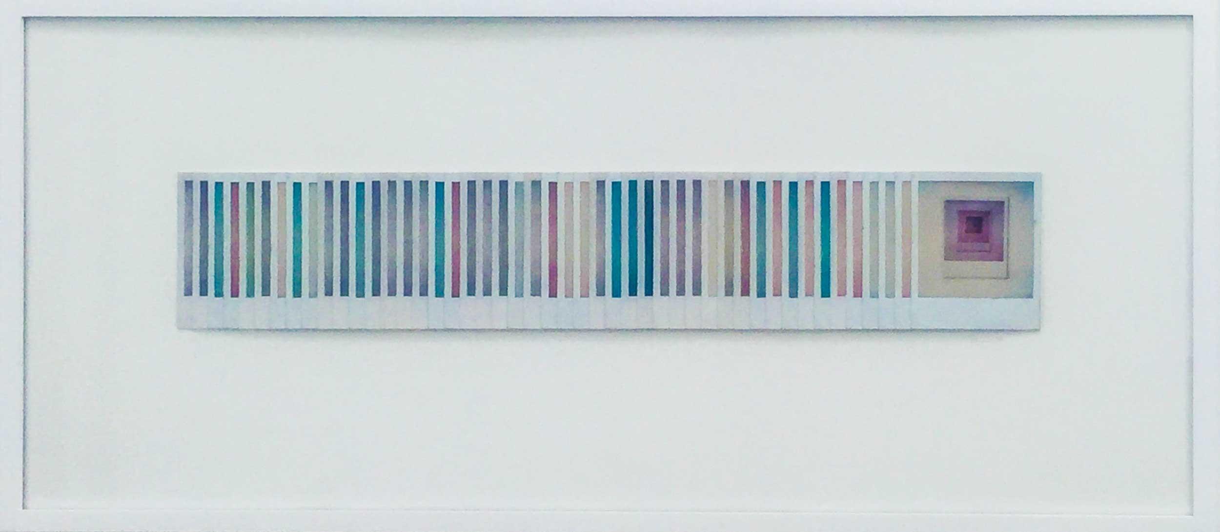 Pedro Terán, 0-1 Polagramas, 1988-1989 Polaroid SX70. Vintage. 37 x 102 cm. Cortesía: Instituto de Visión, Bogotá, 2016