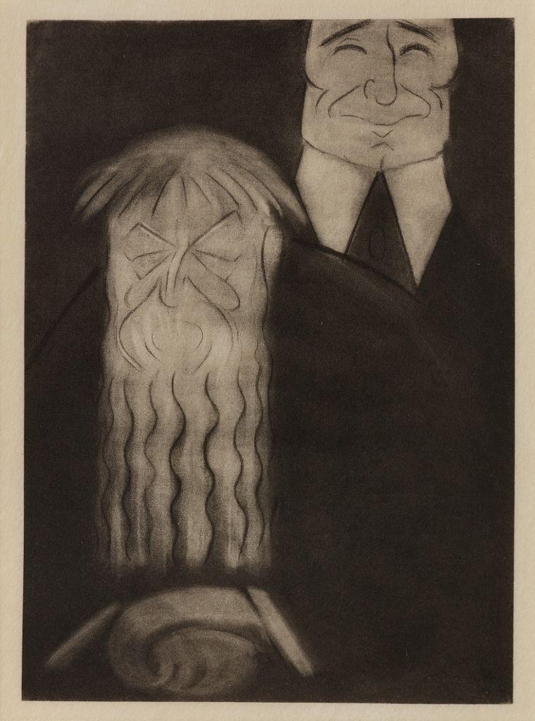 Marius de Zayas, Rodin and Steichen, 1912. Fotograbado. ©Colección Diéresis. Fotografía: Omar Olguin