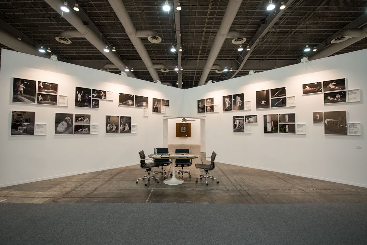 Stand de Proyectos Monclova (México) en la edición 2016 de ZⓈONAMACO México Arte Contemporáneo Cortesía de la feria