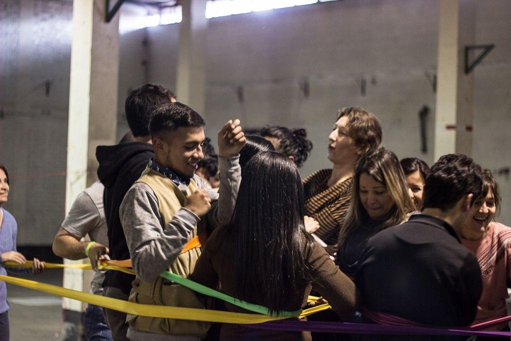 Espacio de Desencuentro, taller de Mónica Hoff durante NC-LAB 2016, Bogotá. Foto: Gina Navarro. Cortesía de NC-LAB