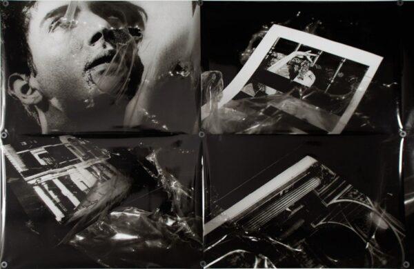 Nicolás Franco, DVR. 2011 (detalle). Fotografías, imanes y metal. 1169 x 224 x 2 cm. Cortesía del artista