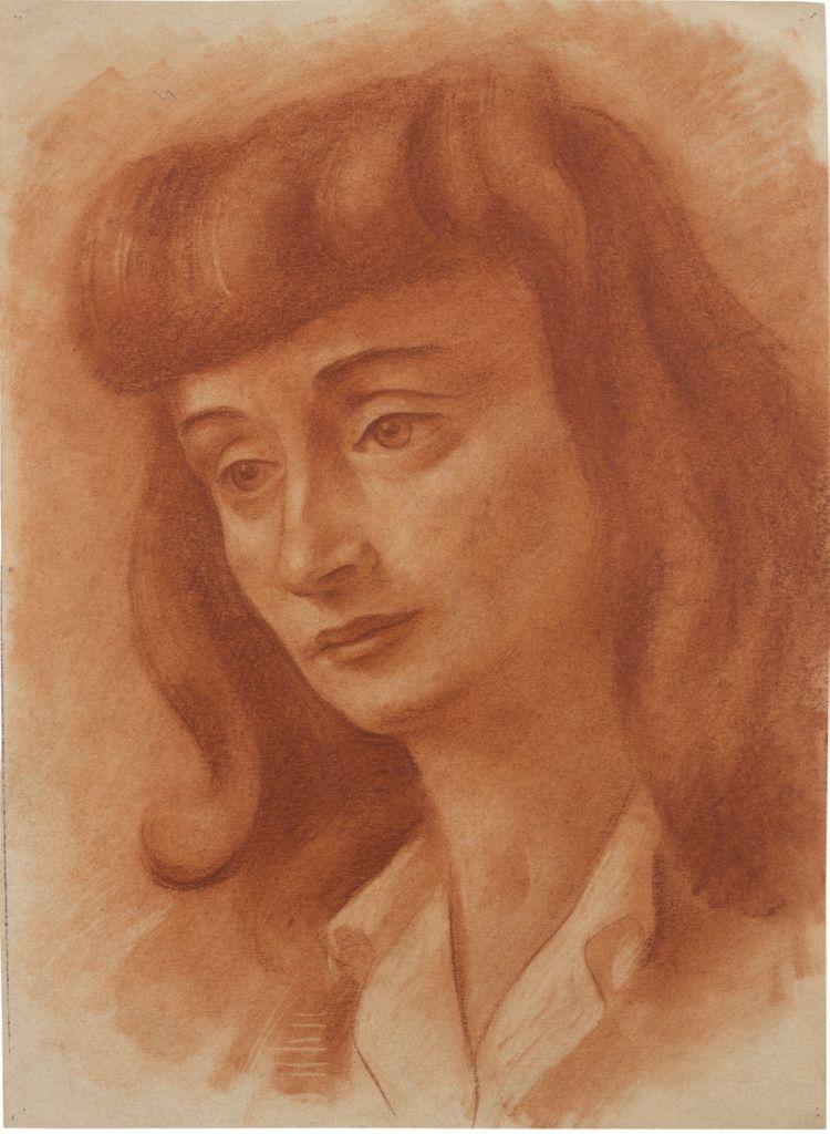 Antonio Berni. Sin título, ca. 1941. Sanguina sobre papel. 40.5 x 30 cm. Colección privada, Buenos Aires. © José Antonio Berni y Luis E. De Rosa