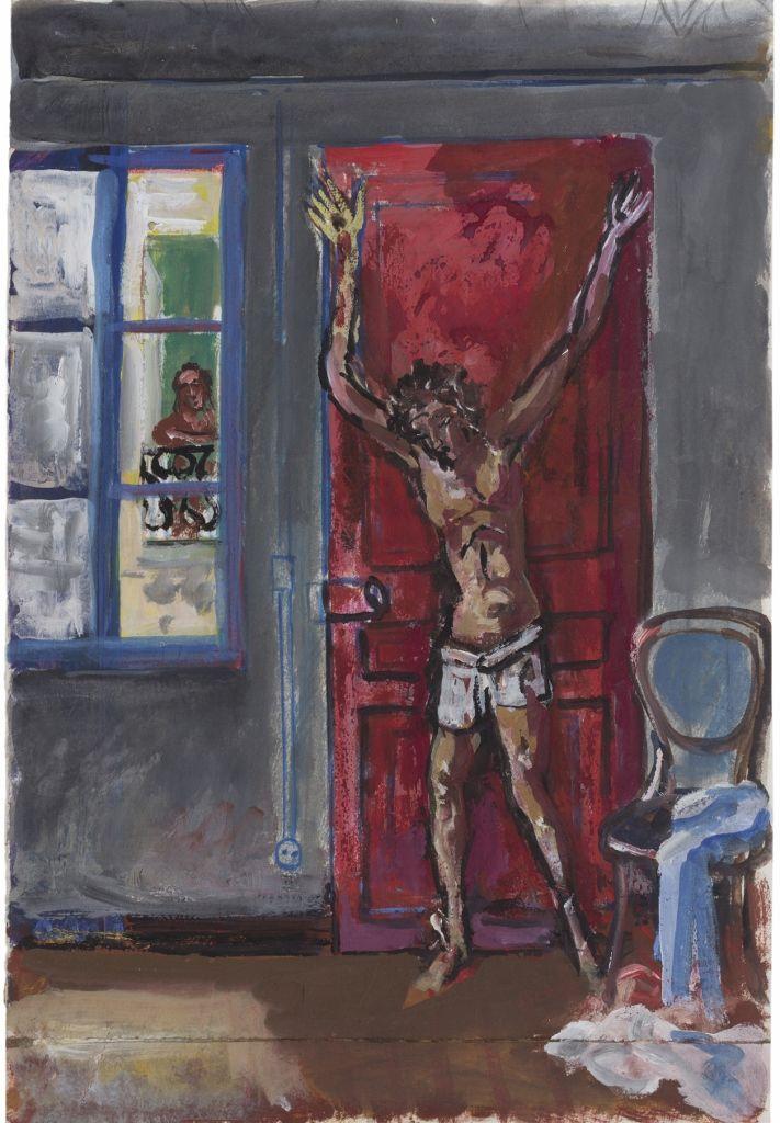 Antonio Berni. Sin título, ca. 1980/1981. Témpera sobre papel. 35 x 24 cm. Colección privada, Buenos Aires. © José Antonio Berni y Luis E. De Rosa