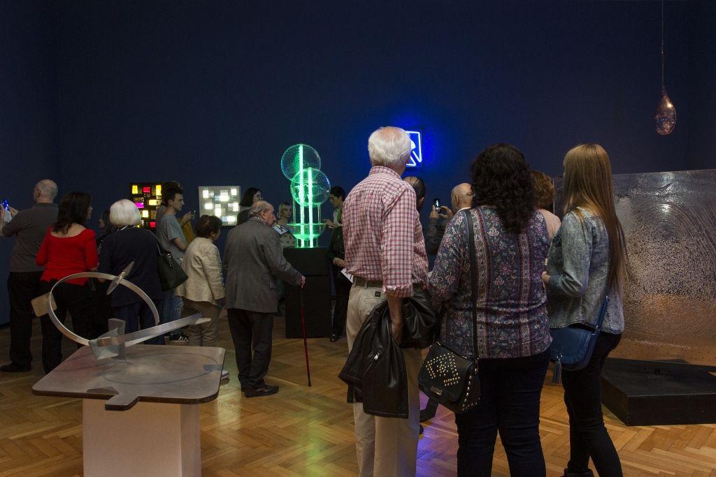 Vista de la exposición Gyula Kosice en el MNBA, Buenos Aires, 2016. Foto: Soledad Amarilla