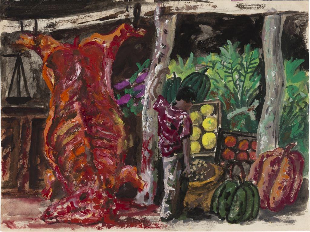 Antonio Berni. Sin título, ca. 1957 Óleo sobre papel. 24 x 32 cm. Colección privada, Buenos Aires. © José Antonio Berni y Luis E. De Rosa