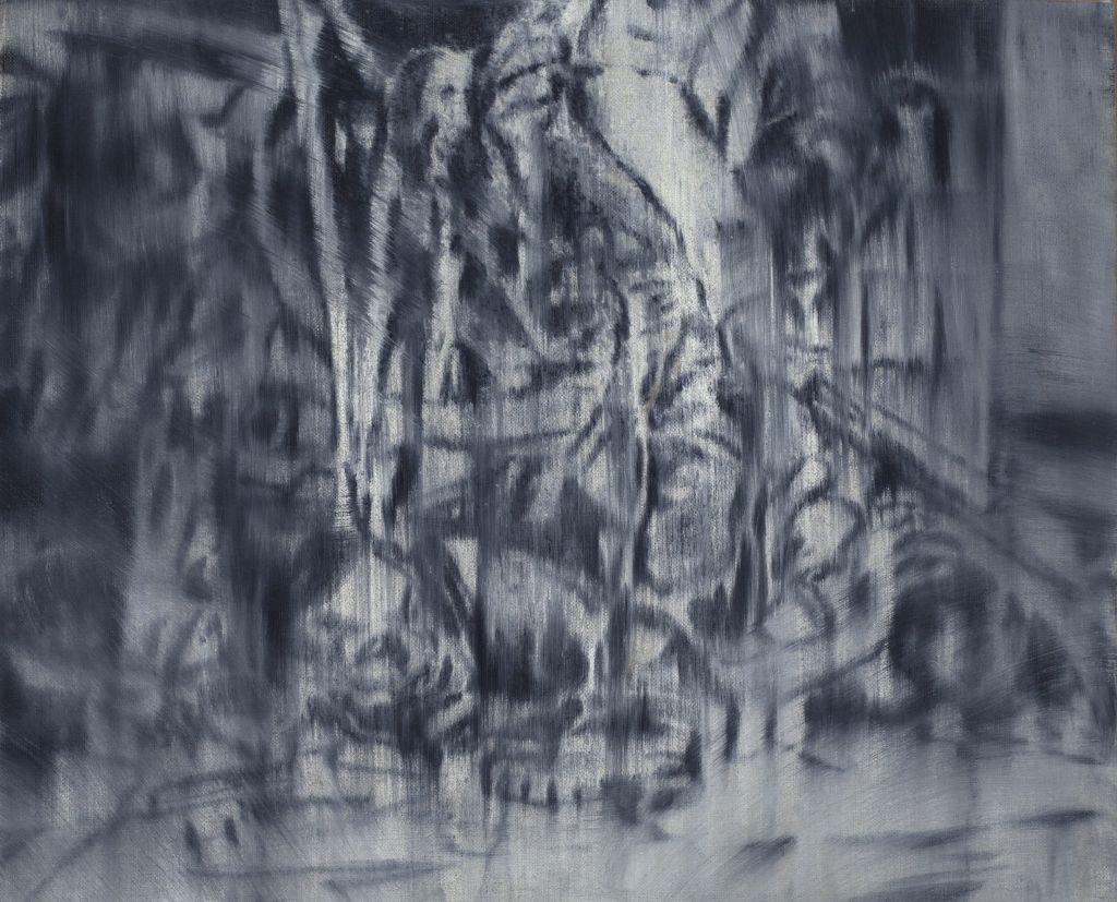 Jorge Tacla, Identidad Oculta 29, 2012, óleo y cera fría sobre tela, 33 x 40,6 cm. Cortesía del artista y MMDDHH