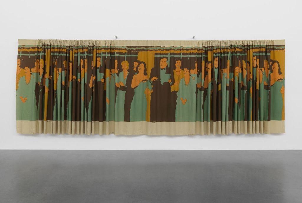 Beatríz González, Decoración de Interiores, 1981, serigrafía sobre tela, 2,6 x 1,9 m. Préstamo de Tate Americas Foundation / Latin American Acquisitions Committee 2015 . Cortesía: Tate Modern