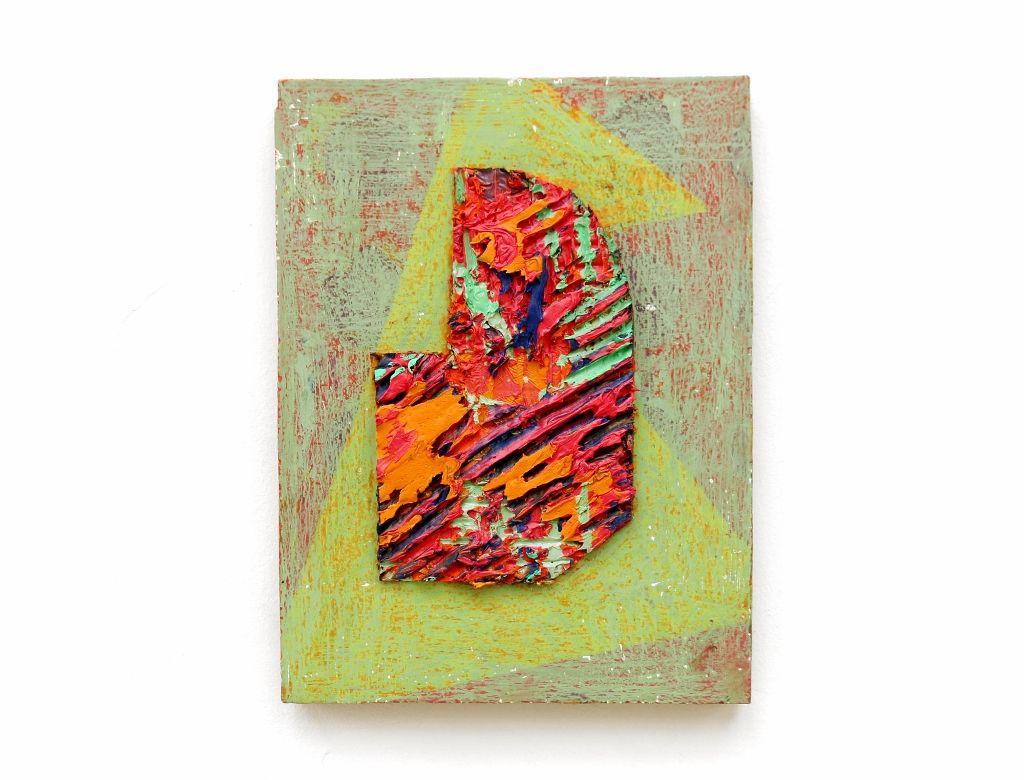 "Jaime Alvarado (Beca BLOC). ""It´s a talking piece"". 21 x 26 cm. Óleo sobre madera, 2016. Cortesía. Taller Bloc"