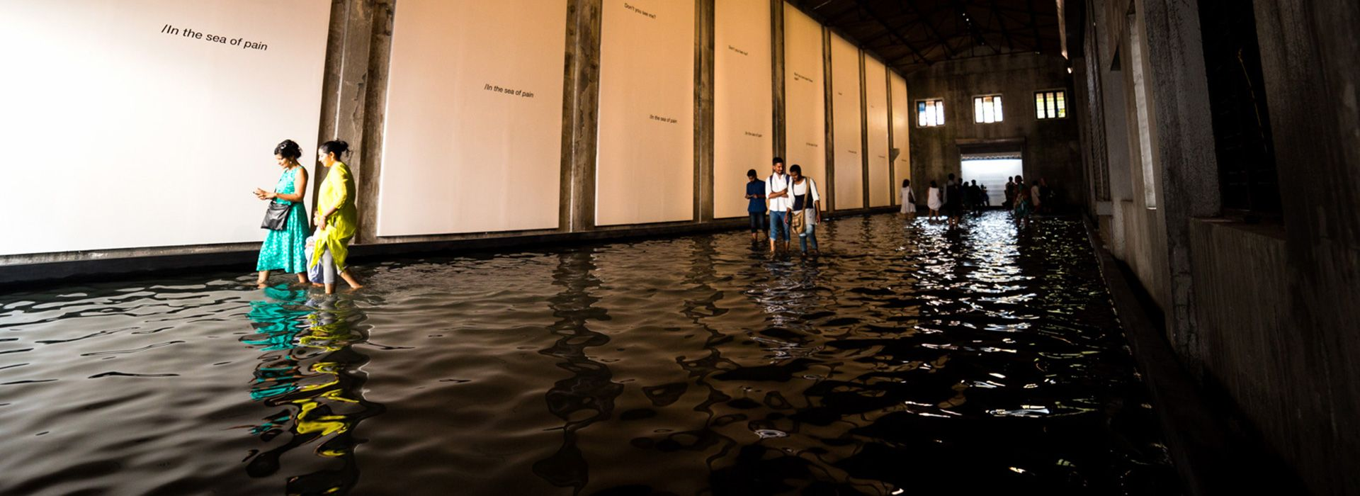 Raúl Zurita, Sea of Pain, 2016. Foto: The Kochi Biennale Foundation. Courtesía del artista. Con el apoyo de Radhika Chopra y Rajan Anandan.