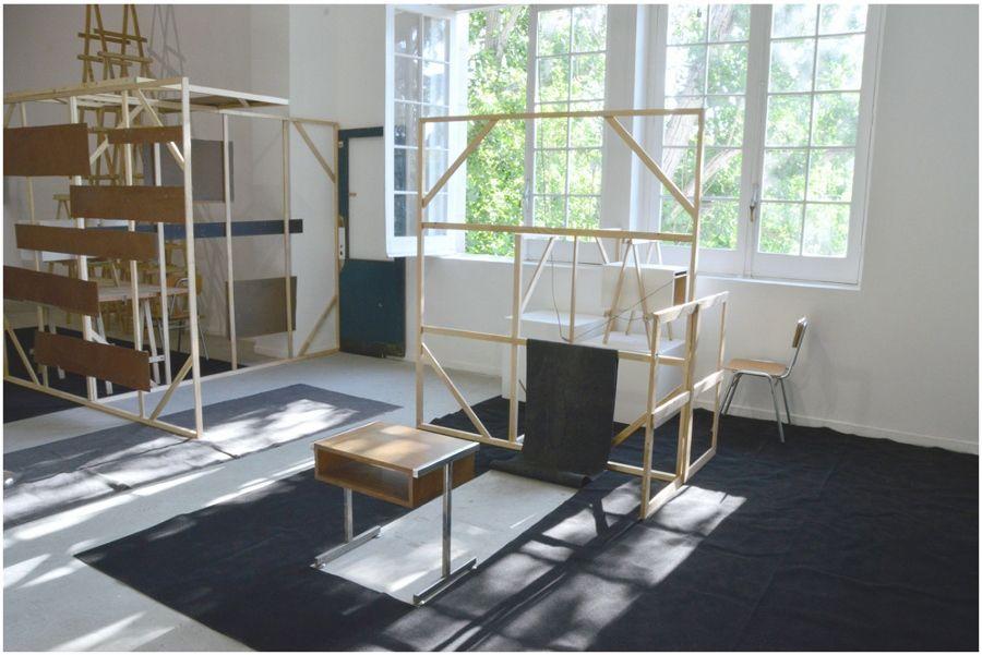 Vista de la exposición Representación de un Piano, de Oscar Abraham Pabón, en el MAC Quinta Normal, Santiago de Chile, 2016-2017. Foto cortesía del artista