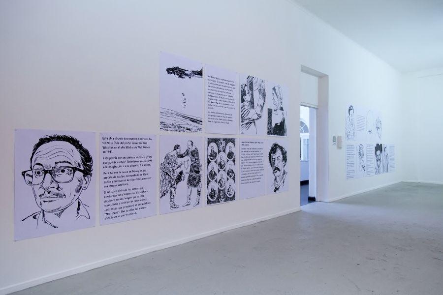 César Gabler. Vista de la exposición Historia Mutante, en el Museo de Arte Contemporáneo (MAC), Quinta Normal, Santiago de Chile, 2016. Foto: María José Canales/MAC