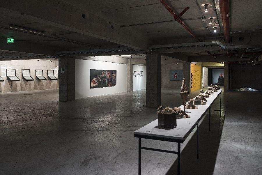 """Vista de la exposición """"Carácter"""", egresados de la Escuela de Arte de la Universidad Diego Portales (UDP), 2017. Foto: Jorge Brantmayer"""