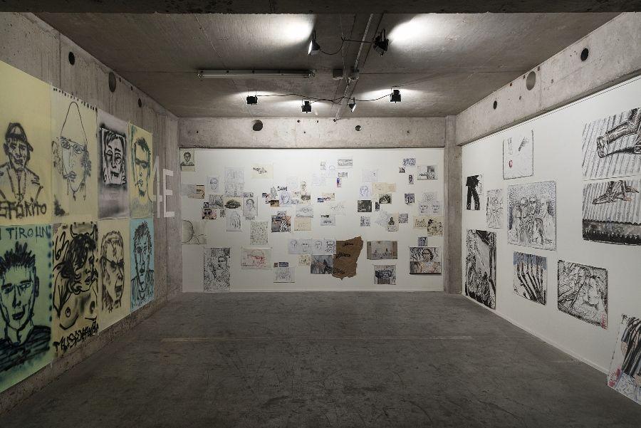 Aldo López, serie de dibujos en diversos soportes y formatos, 2016. Cortesía del artista. Foto: Jorge Brantmayer
