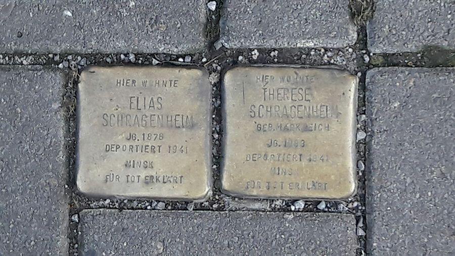 Gunter Demnig, Stolperstein: Elias Schragenheim. Therese Schragenheim, Bremen. Foto: Alejandro Perdomo Daniels