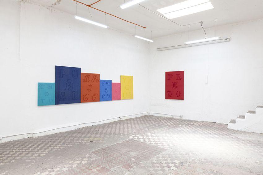Jesús Monteagudo, vista de la exposición Synoymus, en Taller Bloc, Santiago, 2016. Cortesía del artista