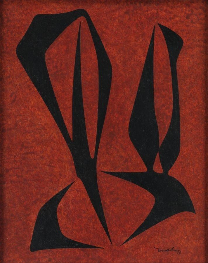 Pedro de Oraá, Sin título,1959, acrílico sobre tela montada en cartón, 76,2 x 63,5 cm, Cortesía: Michael Rosenfeld Gallery, LLC, Nueva York; y David Zwirner, Nueva York/Londres