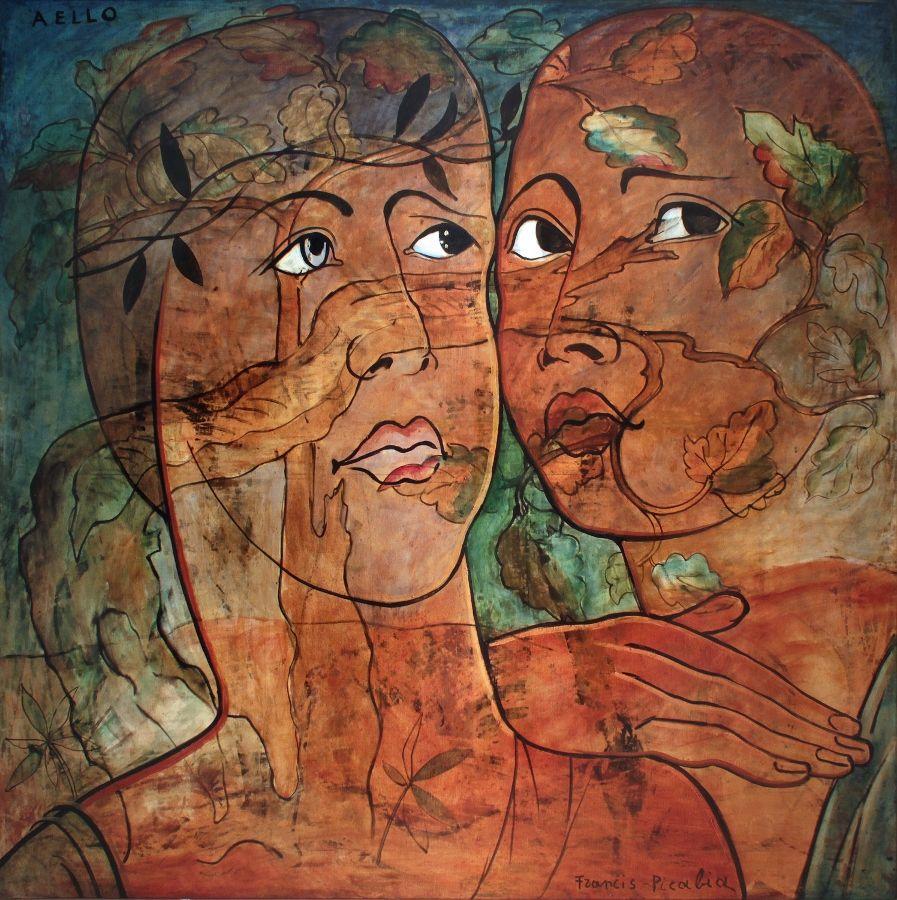 Francis Picabia. Aello. 1930. Oleo sobre tela, 169 × 169 cm. Colección privada © 2016 Artist Rights Society (ARS), Nueva York/ADAGP, París