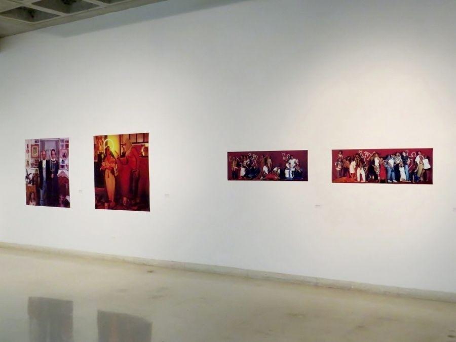 """Vista de la exposición """"De lo impuro a lo sagrado. Obras incompletas. Nelson Garrido"""", en el Museo de Arte Contemporáneo del Zulia, Maracaibo, Venezuela, 2017. Foto: Zulbert Marin / Prensa MACZUL"""