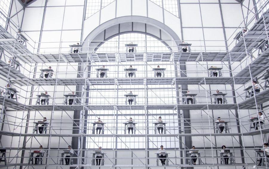 """Vista de la exposición """"Memorándum"""", de Héctor Zamora, en el Museo Universitario del Chopo, 2017. Foto cortesía del museo"""