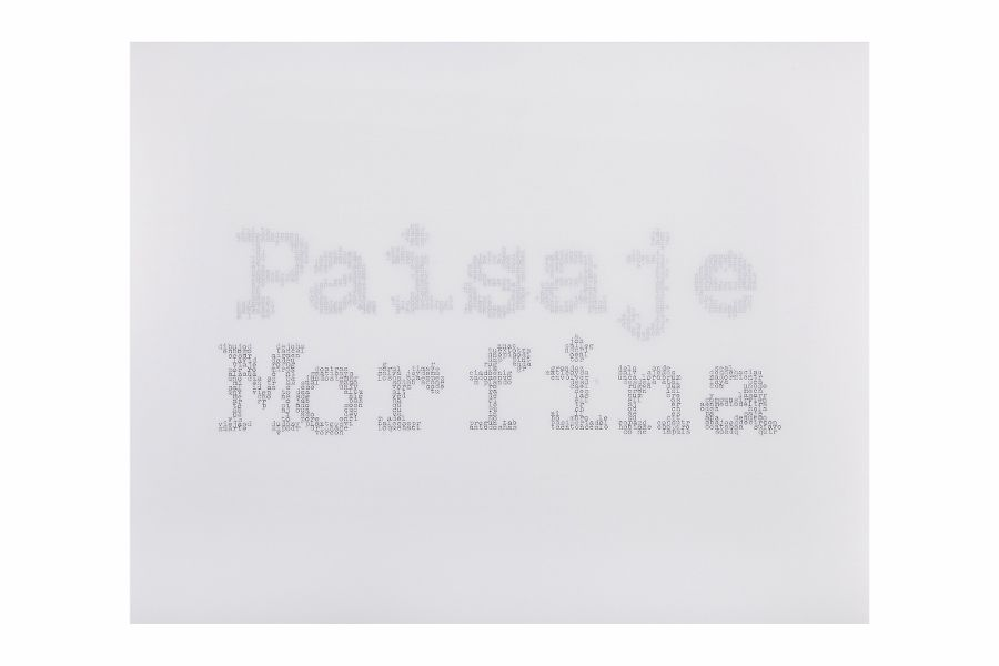 Johanna Calle (1965, Bogotá) Paisaje Morfina. 2016. Impresión tipográfica (letterpress), 27,9 x 35,6 cm.