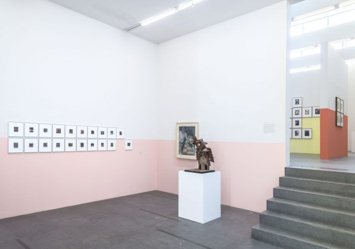 Vista de la exposición Margen-Borde-Orilla en Galería Páramo, Guadalajara, México, 2017. Foto: Cary Whittier