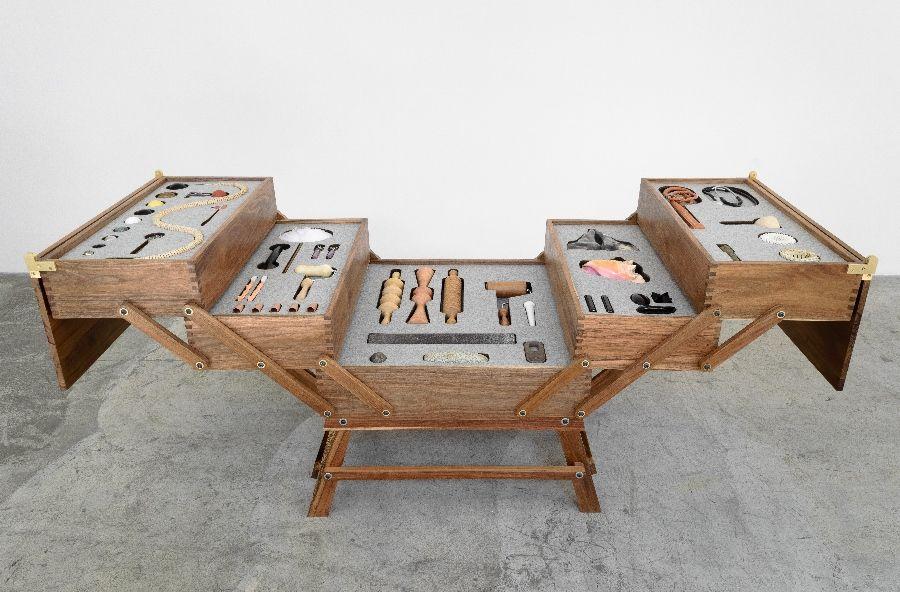 Pedro Reyes, Cuerpomático II. En Labor. Cortesía: Material Art Fair