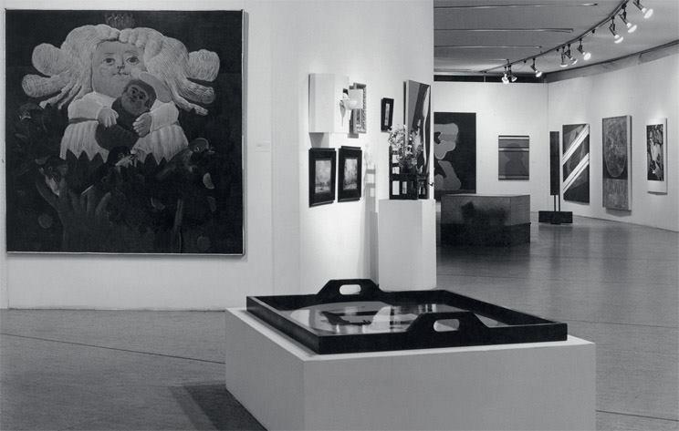 Obras de artistas colombianos en la Colección permanente, sede del Planetario Distrital, 1978. Foto: Óscar Monsalve