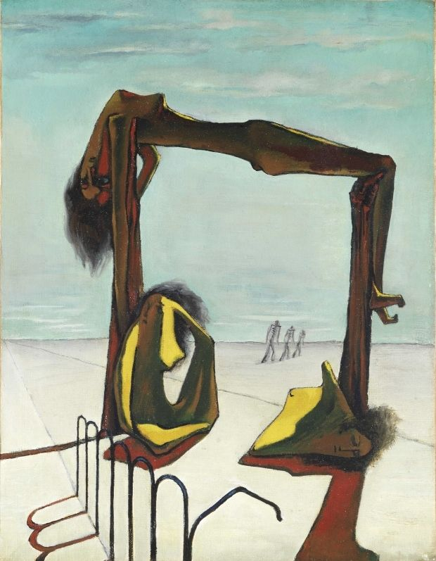 Ramses Younane. Sin título, 1939, óleo sobre lienzo, 46,5 x 35,5 cm. Colección H.E Sh. Hassan M. A. Al Thani, Doha