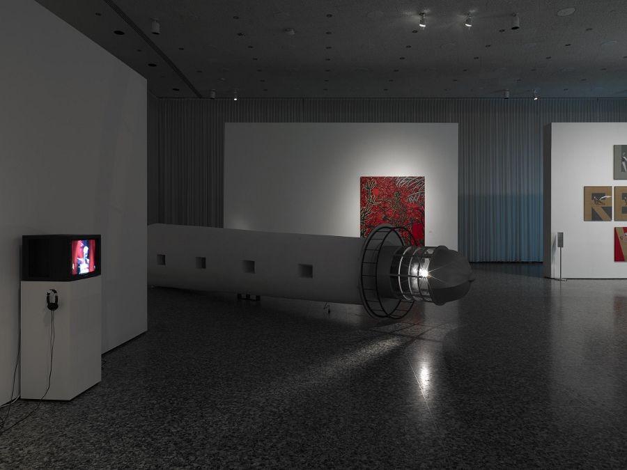 """Vista de la exposición """"Adios Utopia: Dreams and Deceptions in Cuban Art Since 1950"""", en el Museum of Fine Arts, Houston, 2017. Foto: Will Michels"""