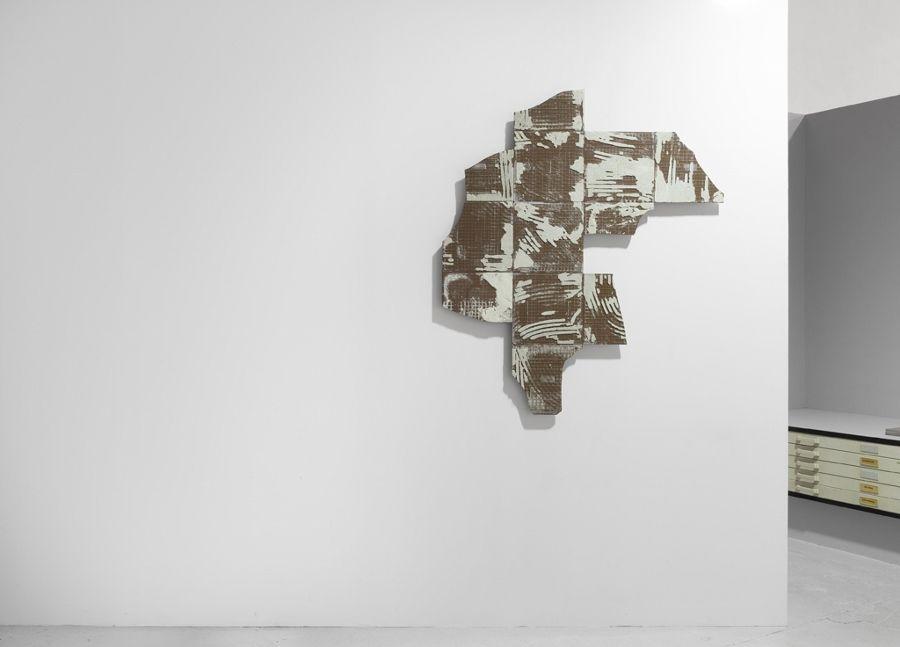 """Vista de la exposición """"341 pasos"""", de Alejandro Leonhardt, en L21, Palma de Mallorica, España, 2017. Foto cortesía de L21"""