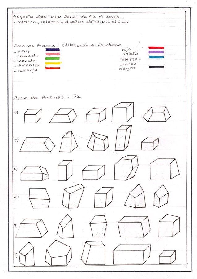 Teresa Burga, Prismas, 2012, tinta sobre papel, serie de 20 dibujos, 29.6 x 21 cm c/u. Colección Jorge M. y Darlene Pérez, Miami