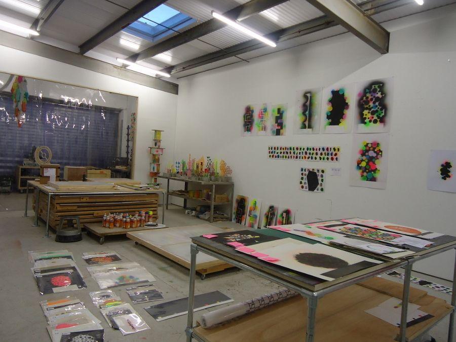 David Batchelor's Studio. Photo: Alejandra Rojas Contreras